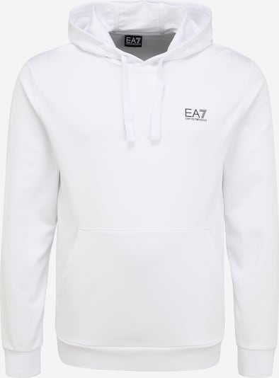 EA7 Emporio Armani Sweat-shirt en noir / blanc, Vue avec produit