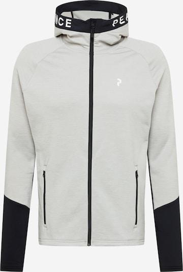 PEAK PERFORMANCE Fleecejacke 'Rider' in grau / schwarz, Produktansicht