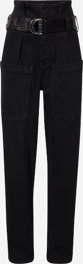 The Kooples Bandplooi jeans 'JEAN' in de kleur Black denim, Productweergave