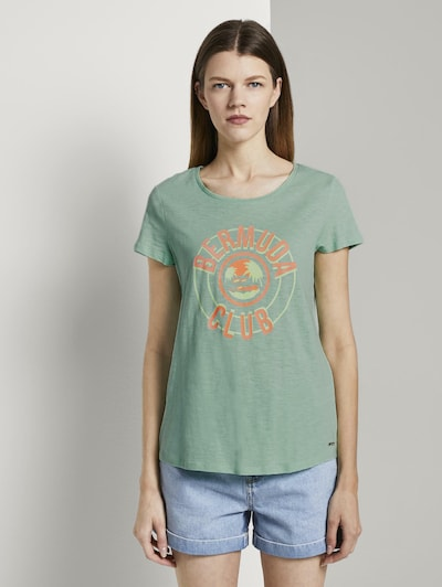 TOM TAILOR DENIM T-shirt en vert pastel: Vue de face