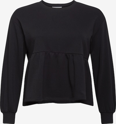 NU-IN Plus Sweatshirt 'Peplum' in schwarz, Produktansicht