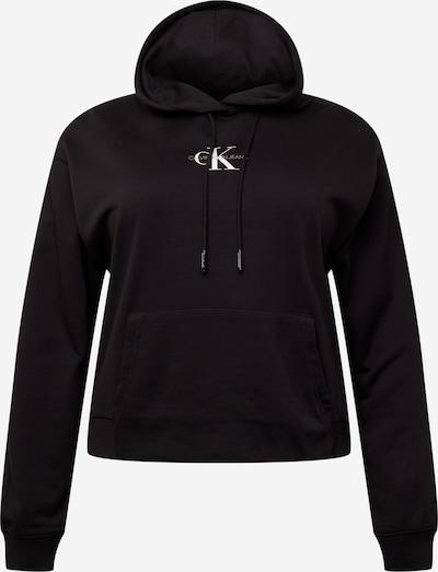 Calvin Klein Jeans Curve Sweat-shirt en noir / blanc, Vue avec produit