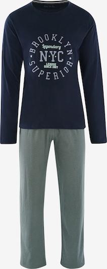 Phil & Co. Berlin Pyjama ' Special Phil ' in navy / mint, Produktansicht