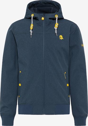 Schmuddelwedda Jacke in dunkelblau / gelb / weiß, Produktansicht