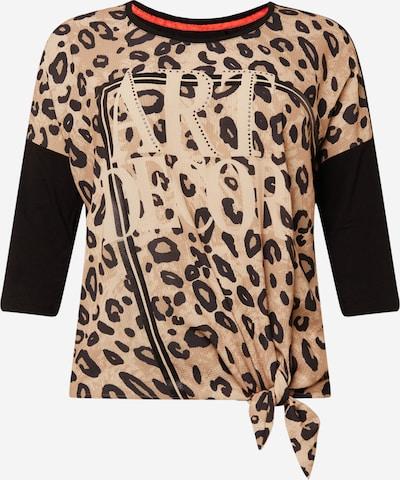 SAMOON Shirt 'Artdecor' in hellbeige / taupe / schwarz, Produktansicht