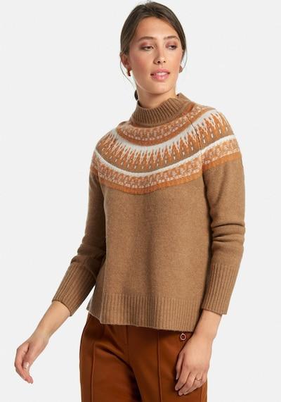 include Pullover aus 100% Premium-Kaschmir in braun, Modelansicht