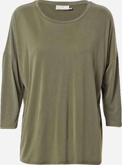 Kaffe T-shirt oversize en olive, Vue avec produit