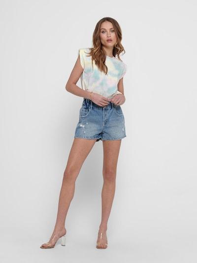 ONLY Shirt 'AMY' in türkis / rosa / weiß: Frontalansicht