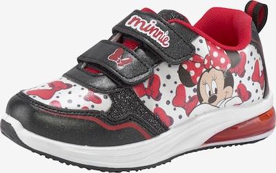 DISNEY Sneaker in rot / schwarz / weiß, Produktansicht