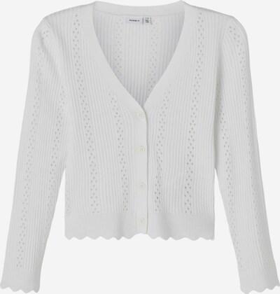 NAME IT Gebreid vest in de kleur Wit, Productweergave