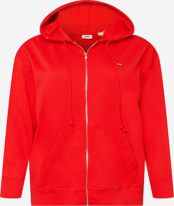 Levi's® Plus Sweatjacke in Rot