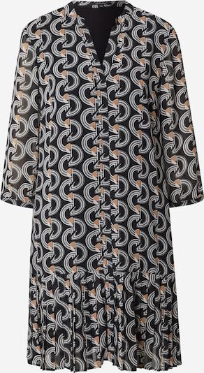 COMMA Robe en marron / noir / blanc, Vue avec produit