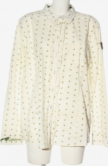 Northland Langarmhemd in XXXL in grün / wollweiß, Produktansicht