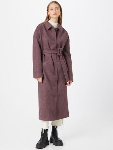 NA-KD Between-Seasons Coat in Red