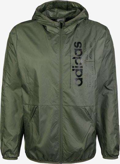 ADIDAS PERFORMANCE Sportjas 'Brilliant Basics' in de kleur Olijfgroen / Zwart, Productweergave