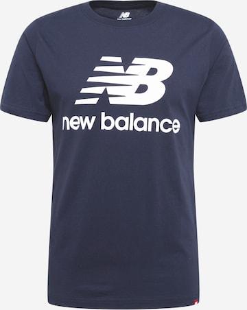 T-Shirt fonctionnel new balance en bleu