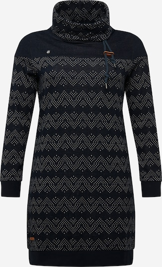 Ragwear Plus Jurk 'Chloe' in de kleur Navy / Wit, Productweergave