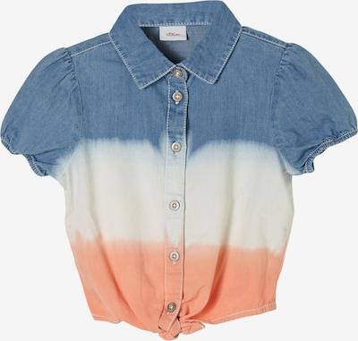 s.Oliver Blouse in de kleur Blauw / Sinaasappel / Wit, Productweergave