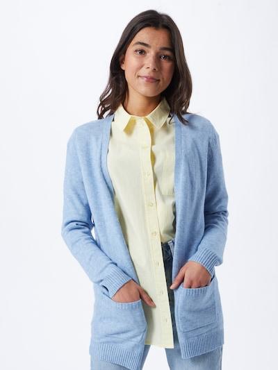 ONLY Gebreid vest in de kleur Lichtblauw, Modelweergave