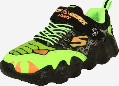 SKECHERS Brīvā laika apavi neona dzeltens / kivi / pasteļoranžs / melns, Preces skats