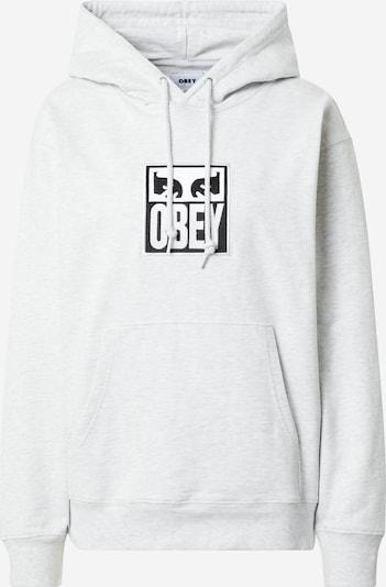 Obey Sweatshirt in schwarz / weißmeliert, Produktansicht