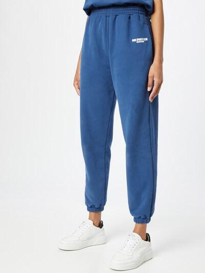 Pantaloni 'SPORTS CLUB' PARI pe albastru / alb, Vizualizare model