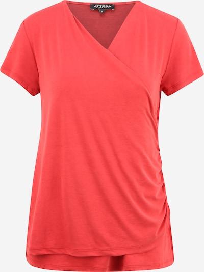 Attesa Shirt 'INCROCIATA' in de kleur Lichtrood, Productweergave