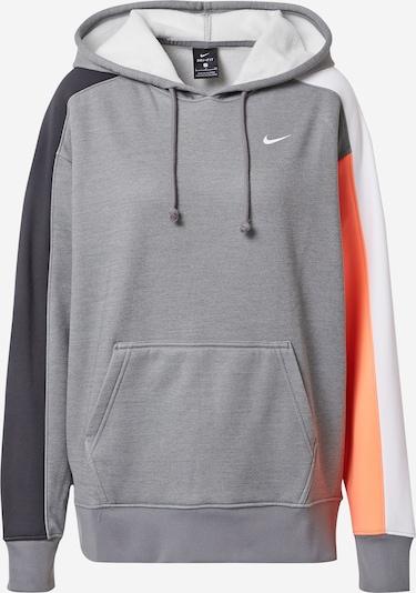 NIKE Sport sweatshirt i grå / mörkgrå / korall / vit, Produktvy