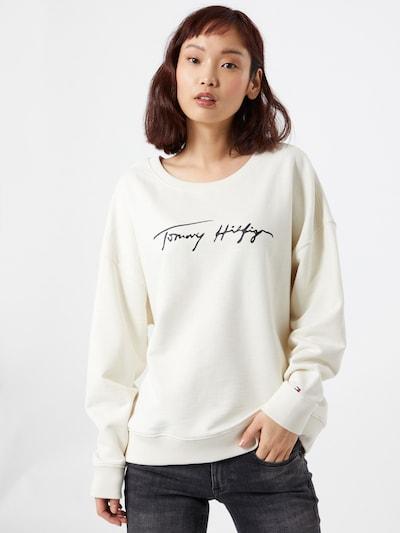 TOMMY HILFIGER Sweatshirt 'TOMMY HILFIGER X ABOUT YOU ORGANIC SLUB COTTON' in beige: Frontalansicht