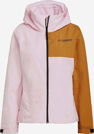 adidas Terrex Jacke in ocker / pink / schwarz, Produktansicht