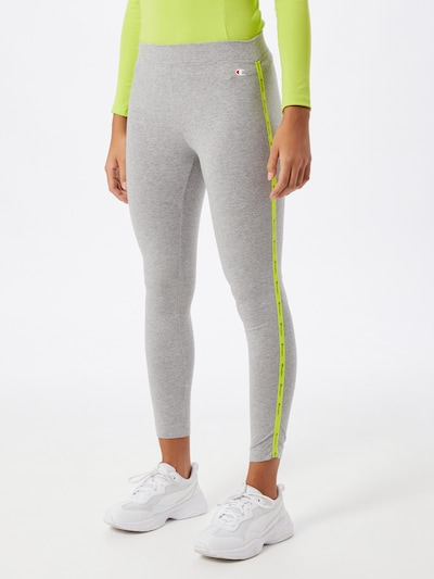 Champion Authentic Athletic Apparel Leggings in gelb / graumeliert, Modelansicht