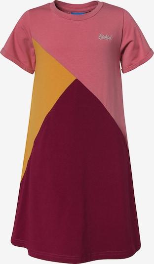 FINKID Kleid in dunkelgelb / dunkelrot, Produktansicht