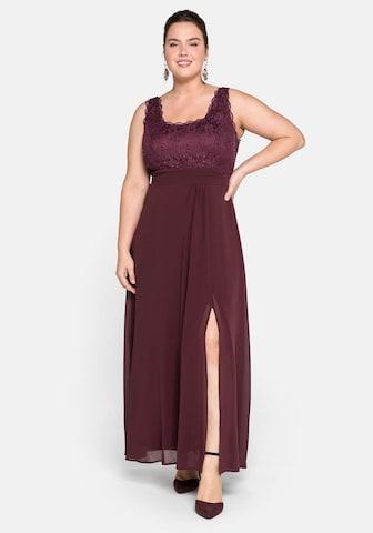 SHEEGO Večerné šaty - fialová