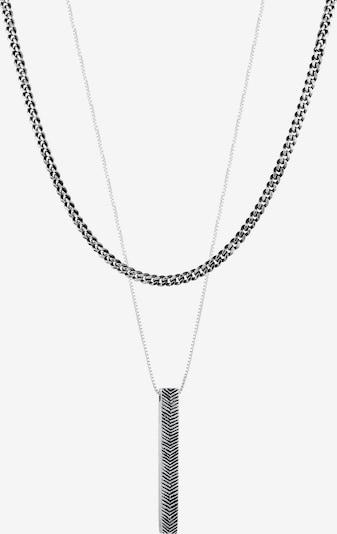KUZZOI Halskette Geo, Layer in schwarz / schwarzmeliert / silber, Produktansicht