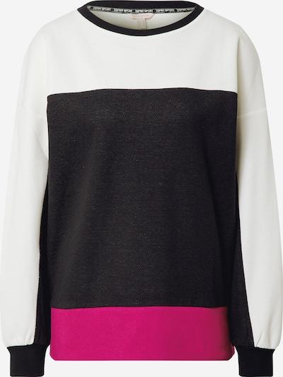 ESPRIT SPORT Sportsweatshirt i mørk pink / sort / hvid, Produktvisning