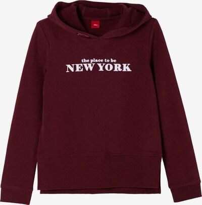 s.Oliver Sweatshirt in dunkelrot / weiß, Produktansicht