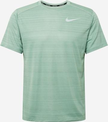T-Shirt fonctionnel 'Miler' NIKE en vert