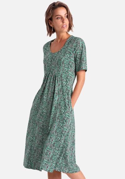 Green Cotton Jerseykleid mit 1/2-Arm aus 100% Baumwolle in mischfarben, Modelansicht