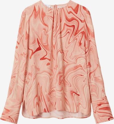 MANGO Блуза 'Janeiro' в бежово / антично розово / червено, Преглед на продукта