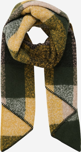 PIECES Sjaal 'PYRON' in de kleur Geel / Donkergroen / Wit, Productweergave