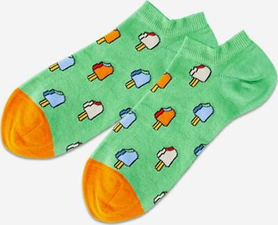 DillySocks Enkelsokken in de kleur Groen / Gemengde kleuren, Productweergave