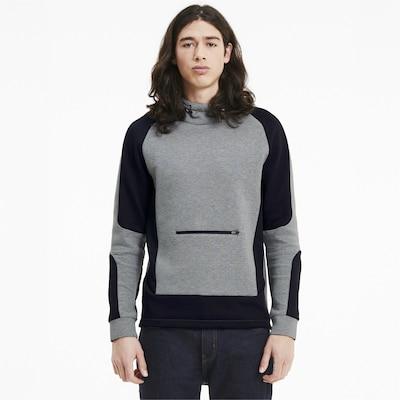 PUMA Sportsweatshirt in de kleur Grijs / Zwart: Vooraanzicht