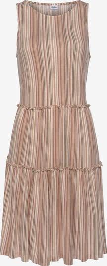 LASCANA Kleid in beige / hellbeige / braun, Produktansicht