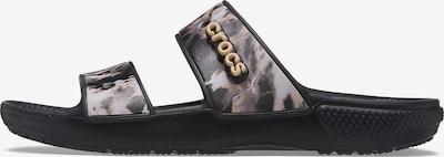 Crocs Badelatschen in beige / schwarz / weiß, Produktansicht