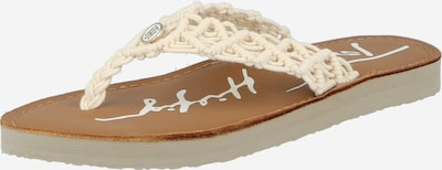 TOMMY HILFIGER T-bar sandals in Cappuccino / natural white, Item view