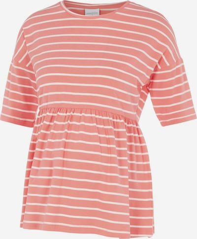 MAMALICIOUS T-shirt 'Otea' en corail / blanc, Vue avec produit