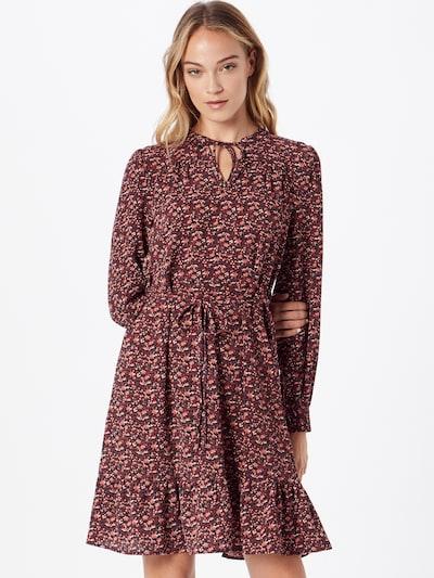 JDY Kleid 'PIPER' in rosa / rot / schwarz / weiß, Modelansicht
