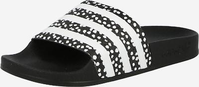 ADIDAS ORIGINALS Zapatos abiertos 'Adilette' en negro / blanco, Vista del producto