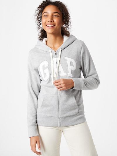 Džemperis 'SHERPA' iš GAP , spalva - margai pilka / balta: Vaizdas iš priekio