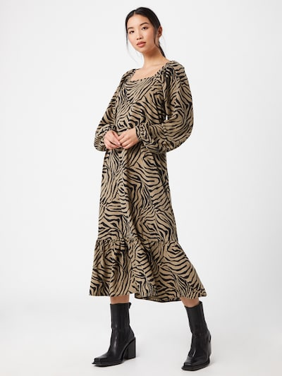 VERO MODA Kleid 'LISA' in beige / dunkelgrün, Modelansicht